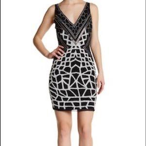 258612582cef Lotus Threads - V-Neck Embellished Shift Dress