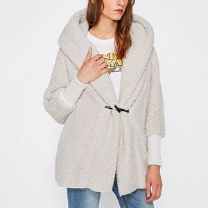 Jackets & Blazers - 🔥 Plush cardigan faux fur cream white with hoodie