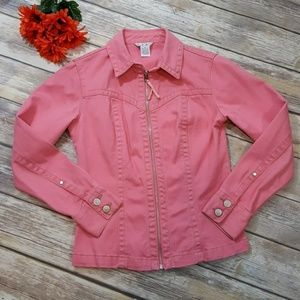 CAbi pink extra small jean jacket