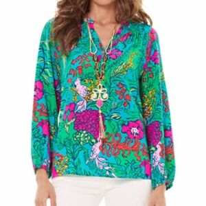 NEW Lilly Pulitzer Shake your Tailfeather Elsa top