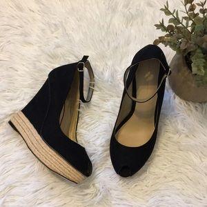 Zara Basic Ankle Strap Wedges