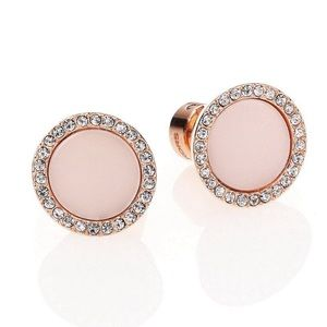 NWT Michael Kors Stone Crystal Disc Stud Earrings