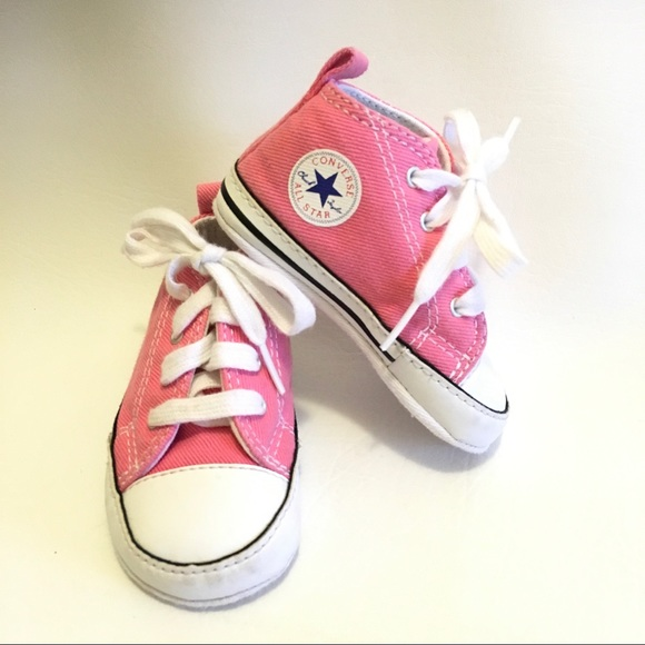 aa76ef9fe1c Baby girl size 3 pink Converse high tops 💗