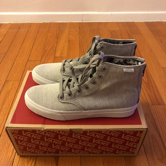6d01ddb8e4 Vans Camden hi zip grey women skate shoes