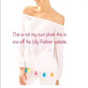 Lilly Pulitzer Small Enna Off the Shoulder Top