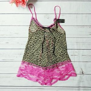 rampage leopard and lace lingerie