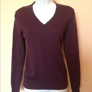Brooks Brothers Purple V-Neck Sweater Size Small