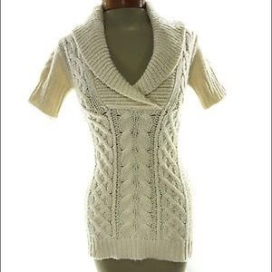 BCBG Max Azria Wool Cable Knit Sweater