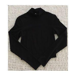 ASOS Black Long Sleeve Crop Top
