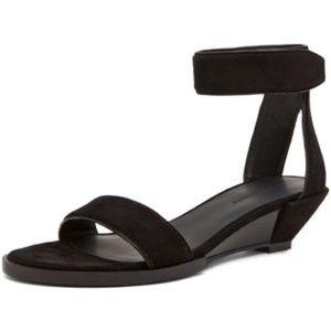 Alexander Wang Vika Wedge Sandal - Black Suede