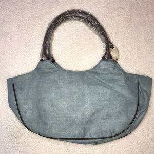 Estée Lauder Blue and Brown Shoulder Tote Bag
