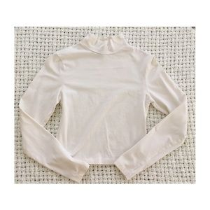 ASOS Ivory Long Sleeve Crop Top