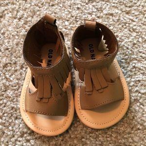 Brown Fringe Sandals