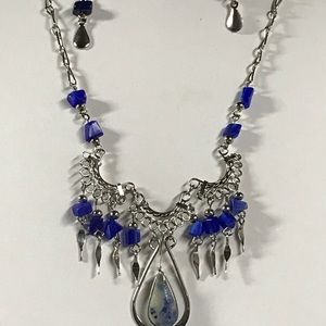 Jewelry - Lapis lazuli Necklace And Earrings Set