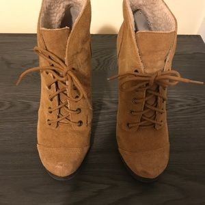 Shoes - Cognac Laced Booties