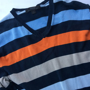Express SIZE 2XL Striped Multicolor orange Sweater
