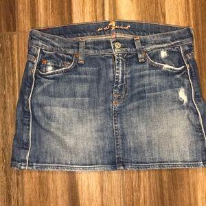 🌸7 for all mankind mini skirt denim size 26
