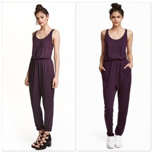 H&M Purple Jumpsuit