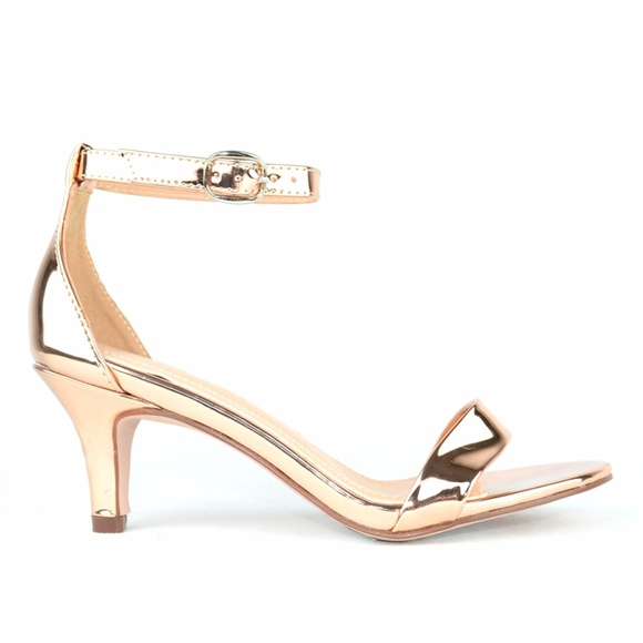 1ba39c403a3c Women s D orsay Low Heel Rose Gold Sandal