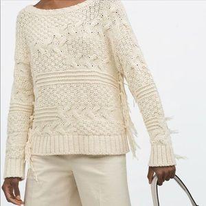 Zara fringe sweater