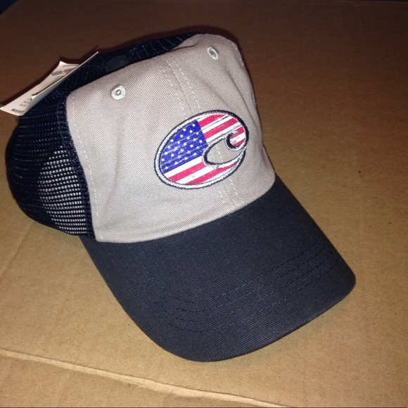 American Flag Costa Del Mar Trucker Mesh Hat 628f7df675c2