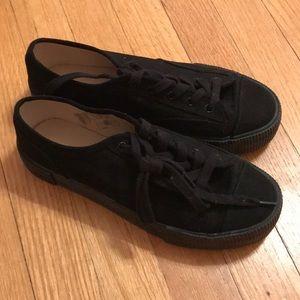 H&M platform black sneakers