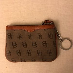 Dooney and Bourke pouch with attached keychain