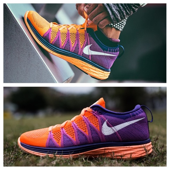 newest collection d2778 8657e Nike Flyknit Lunar 2 Atomic Orange Magenta 10. M 5a0ce7dc7fab3a505e00be61