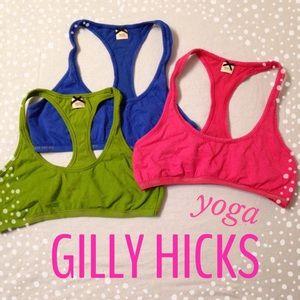 3 GILLY HICKS Yoga Bralettes