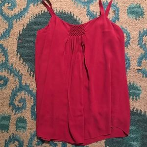 Eileen Fisher silk cami with smocking