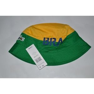 c979385f5ca Lacoste Accessories - Lacoste Brazil Supporter Flag Bucket Hat Cap New