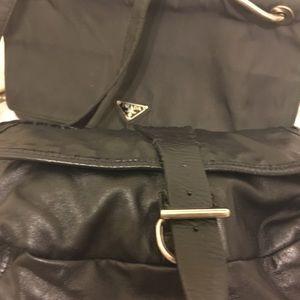 2 Prada bags one brown nylon 1 leather