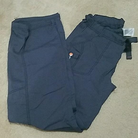 Code Happy Pants - Charcoal scrub pants