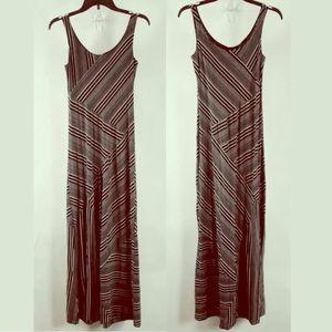 AB Studio Black White Sleeveless Maxi Dress