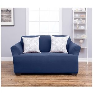 Other - Amalio collection 2 blue loveseat slip cover