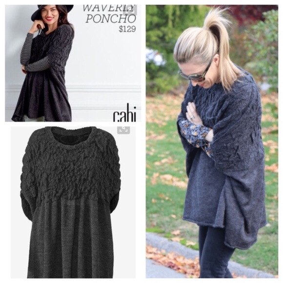 77% off CAbi Sweaters - CAbi Waverly Poncho Style#3124 Limited ...