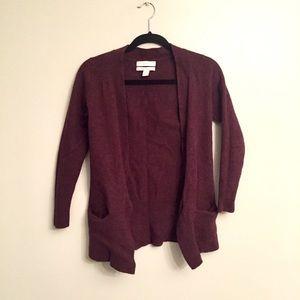 ELLEN TRACY 100% Wool Cardigan Sweater.