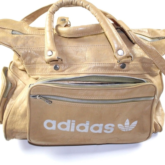adidas Other - Vintage 80s Adidas Spell Out Leather Weekender Bag b2f036ec405d2