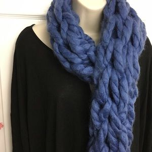 Accessories - #Buy1Give1#✋🏼Handmade✋🏼Cobalt Blue Chunky Scarf