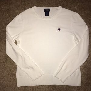 Brooks Brothers White Sweater