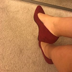 Forever 21 Wide Fit red wedges. Size 9.