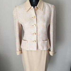 ESCADA 2 piece tweed blazer and wool pencil skirt