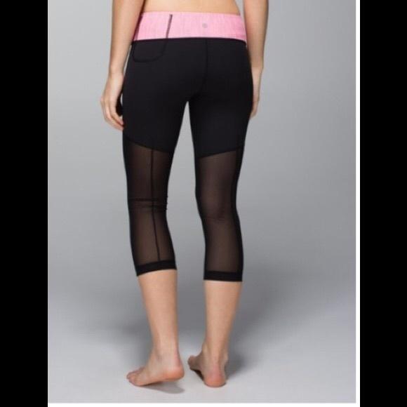 185fc496bd lululemon athletica Pants | Lululemon Mesh Back Crops | Poshmark