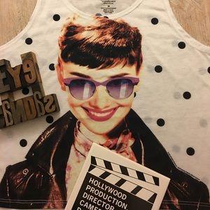 Audrey Hepburn Hollywood Legends Tank by FREEZE