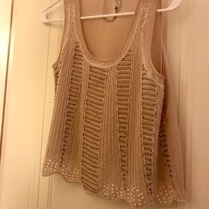 Gorgeous sequined sheer top