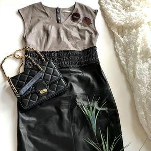 Paule Ka Faux leather dress