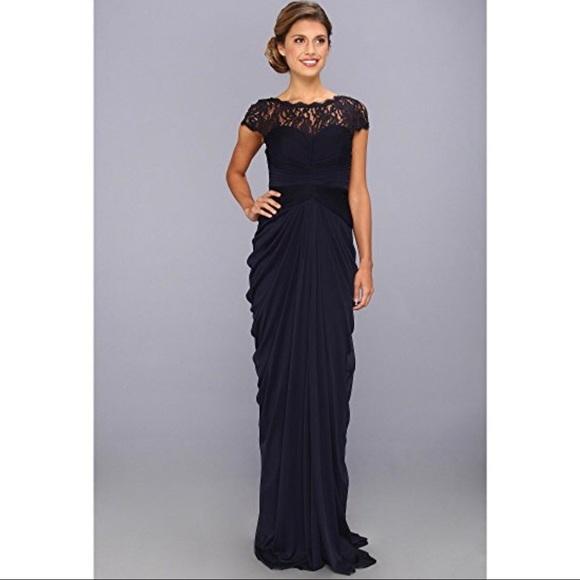Adrianna Papell Dresses | Dress Plus Sz 16w Navy Blue Formal | Poshmark