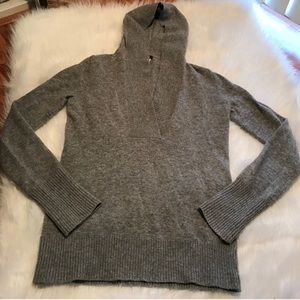 J. CREW CASHMERE WOOL HOODED LONG SLEEVE SWEATER