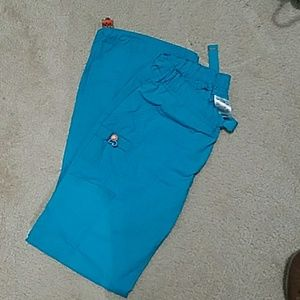 Teal scrub pants