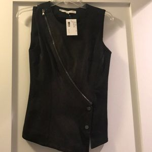 Veronica Beard NWT 100% leather front vest